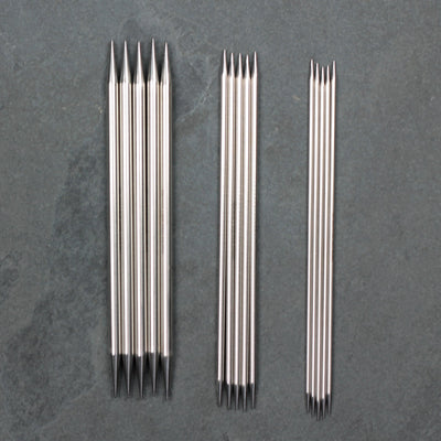 Double Pointed Needles - Sharp Steel from HiyaHiya | Twisted