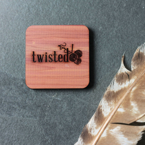Twisted Logo Cedar Blocks | Katrinkles | Twisted