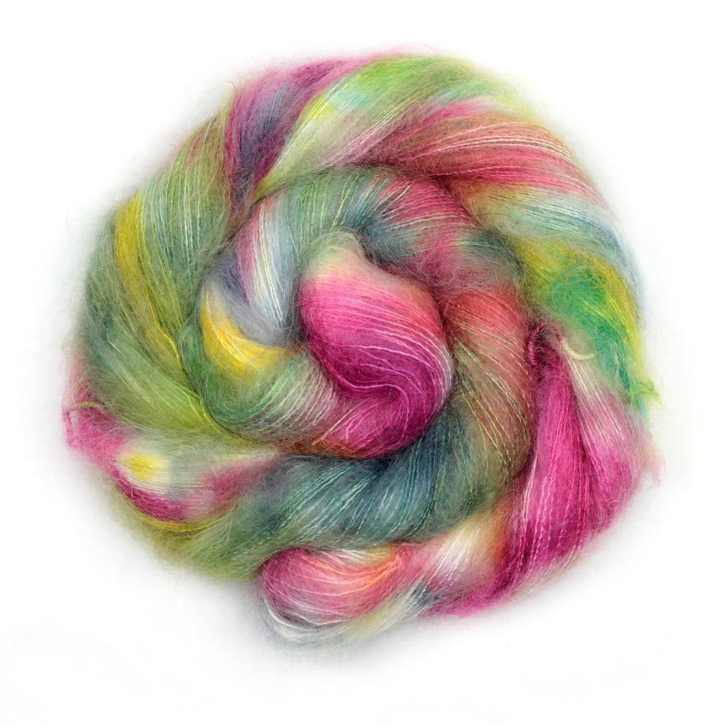 Naiad | Knitted Wit Fairy Floss Yarn | Twisted