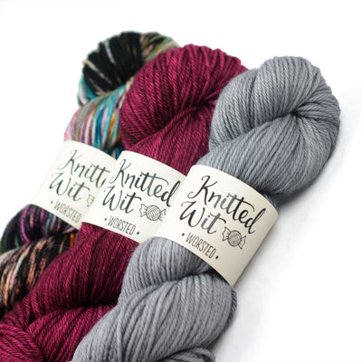 | Knitted Wit Worsted Yarn | Twisted
