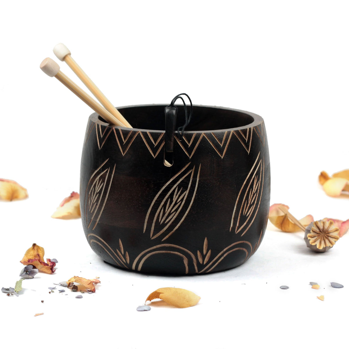 Leafy Yarn Bowl from Knitter's Pride | Twisted