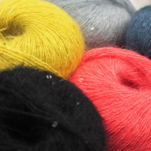 | Lang Yarns Mohair Luxe Paillettes Yarn | Twisted