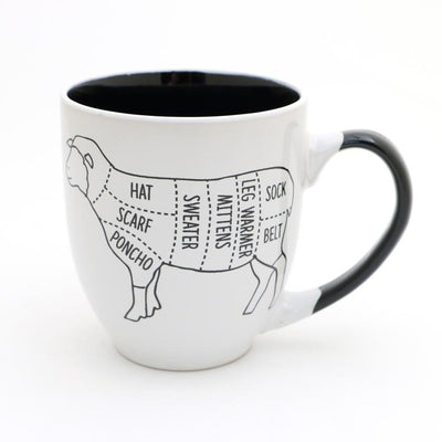 Sheep Parts Mug by Lenny Mudd | Twisted