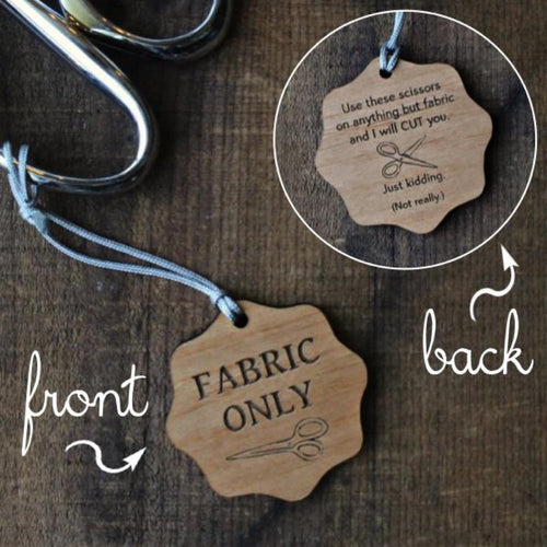 Default | Fabric Only Scissors Fob from Never Not Knitting | Twisted