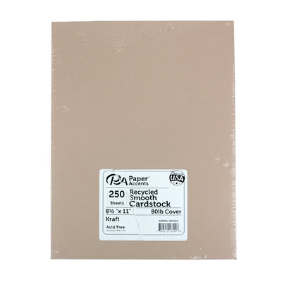 250 sheet pack Recycled Smooth Kraft Cardstock by Paper Accents | Twisted