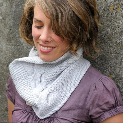 Jazz Age Cowl in Quince & Co. Lark | Sample Garment | Twisted