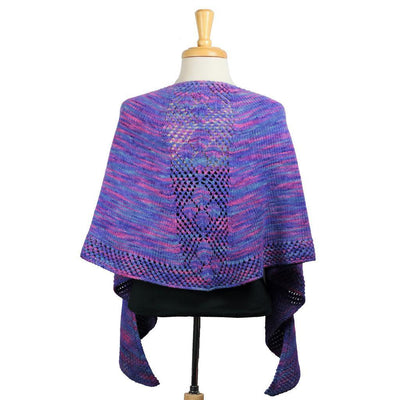 Oregon Lupine Shawl in Blue Moon Fiber Arts Silky Victoria | Sample Garment | Twisted