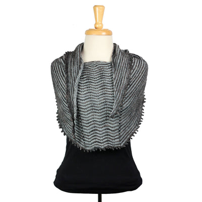 Striae Shawlette in Hazel Knits Artisan Sock | Sample Garment | Twisted