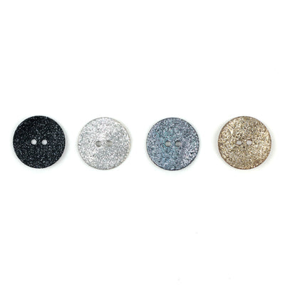 | Agoya Shell Glittery Round Buttons, 18 mm / .7 inch from Skacel | Twisted