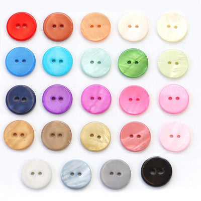 | Dyed River Shell Buttons from Skacel | Twisted