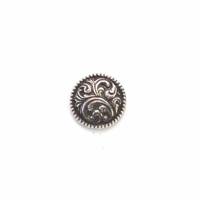 Swirl | Norwegian Pewter Round Shank Buttons from Skacel | Twisted