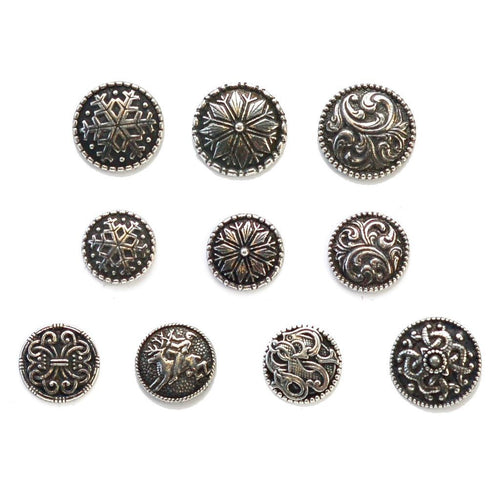 | Norwegian Pewter Round Shank Buttons from Skacel | Twisted