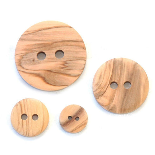 All Colors | Olive Wood 2-Hole Buttons from Skacel | Twisted