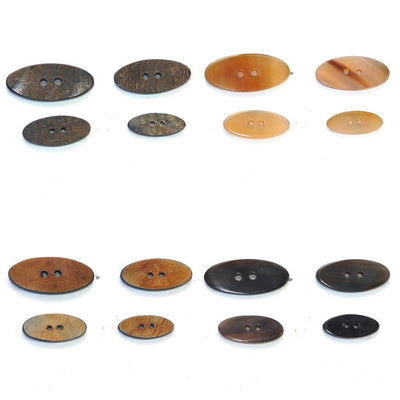 | Oval Horn Buttons from Skacel | Twisted