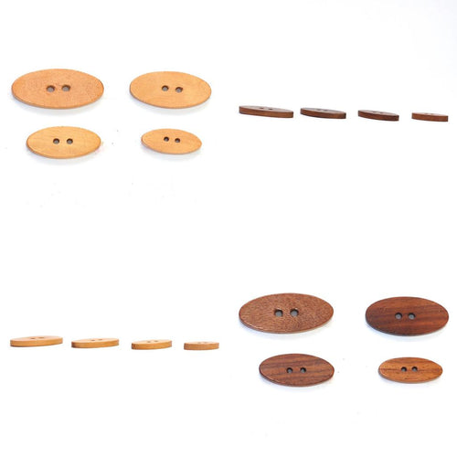 | Oval Wood Buttons from Skacel | Twisted