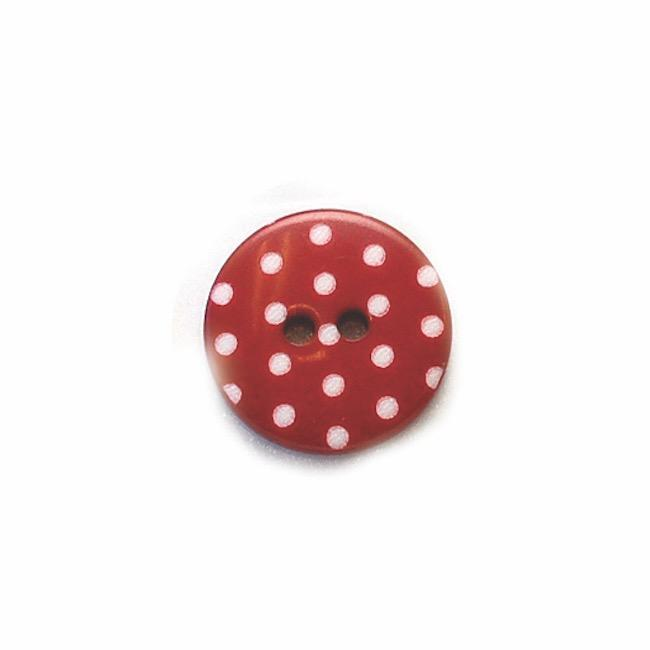 Red | Polka Dot Buttons from Skacel | Twisted