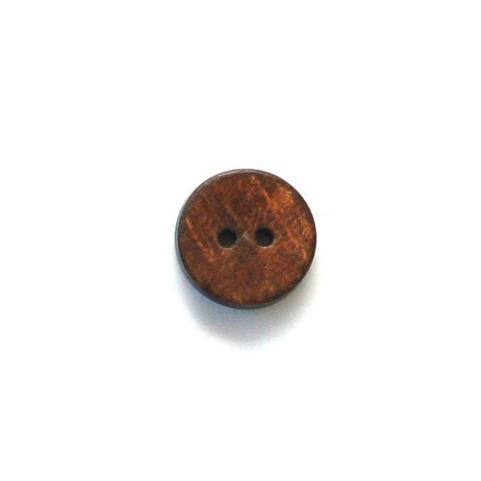 15 mm / .6 inches | Round Brown Horn Buttons from Skacel | Twisted
