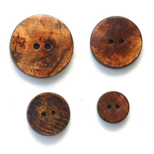 | Round Brown Horn Buttons from Skacel | Twisted