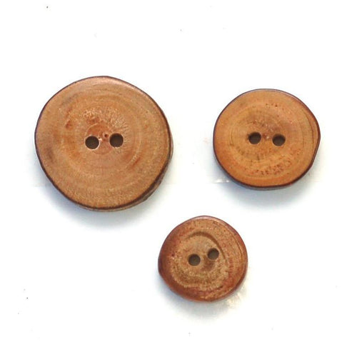 | Wood Slice Buttons from Skacel | Twisted