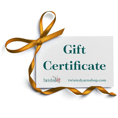 | | | Gift Certificate | Twisted