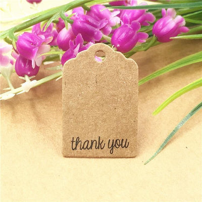 Thank You - Kraft | Mini Gift Tags | Twisted