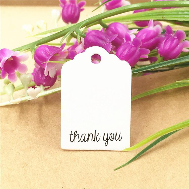 Thank You - White | Mini Gift Tags | Twisted