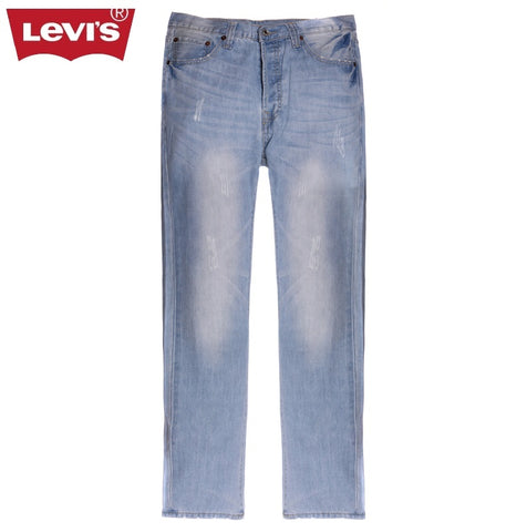 Levi's Fashion 501 Series Men Jeans Classic Light-Colored Breathable Men's Pants Fashion Men's Denim Pants