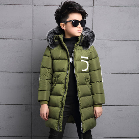 Children Winter cotton Jacket Made of Goose Feather Winter for Girls Boys Parka Coat Child  Clothes Outwear Kids Down Jacket