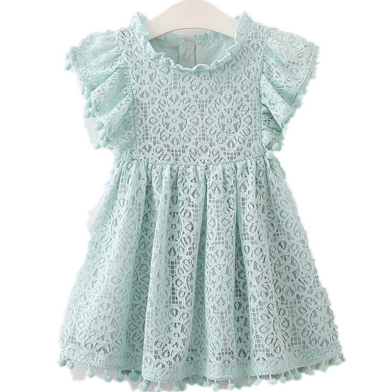fabfd78d0 ... summer Girls Dress Cotton Flower Dresses For Girl Lace Princess Dress  Party Dresses Girls Clothing Costume ...