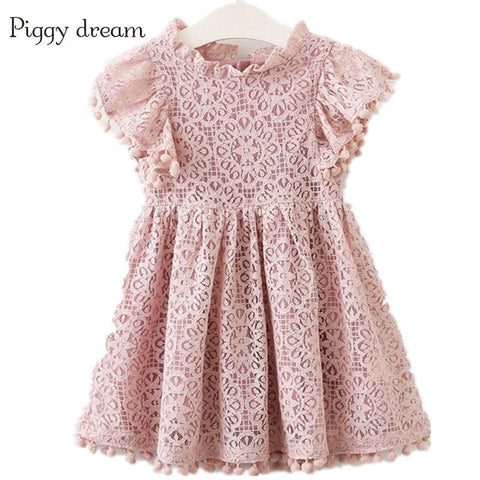 summer Girls Dress Cotton Flower Dresses For Girl Lace Princess Dress Party Dresses Girls Clothing Costume For Kids Clothes