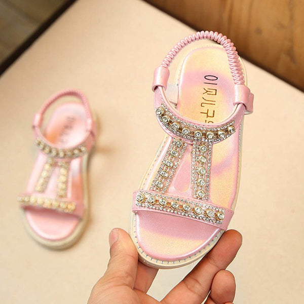Summer Kids Girls Sandals Crystal Beach Sandals Princess Roman Shoe Summer Baby Girls Shoes A1