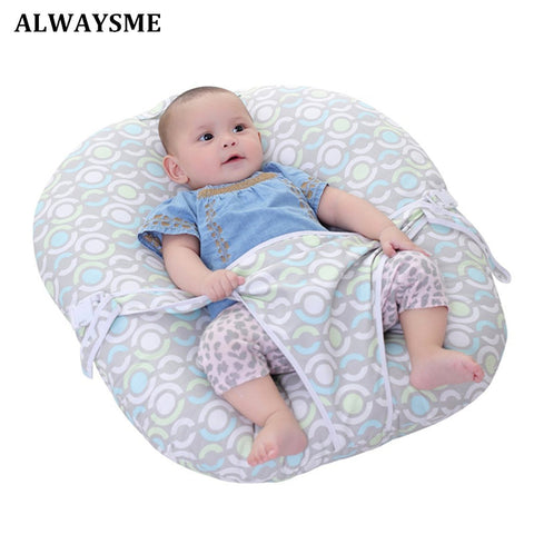 Baby Infant Nursing Pillow Cradle Bed Lounger  Baby Kids Beanbag Portable Baby Chair Folding With Harness Safety Belt