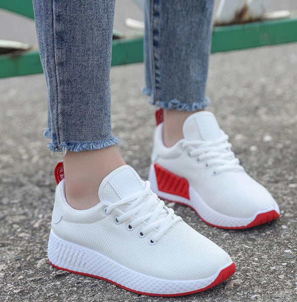Women Lady Spring Autumn Breath Air Mesh Casual Fashion Female Flat Mujer Zapatillas Plimsolls Shoes F311 Duplicate