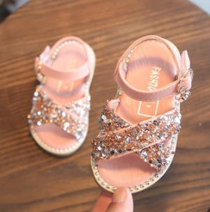 Baby Sequins Diamond Princess Summer Sandals Girls