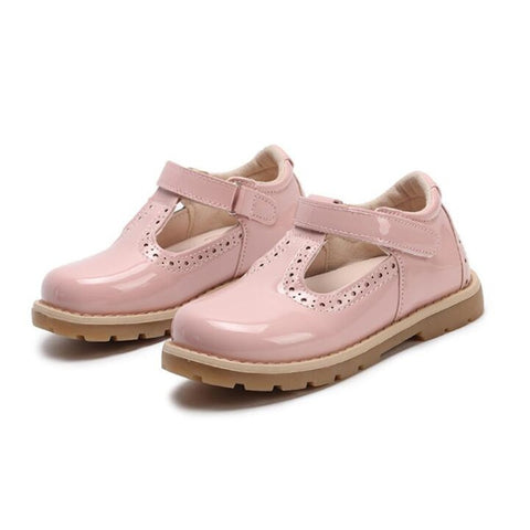 Girls School PU Leather Casual Sneaker Party Dress Flat Little Girls Shoes