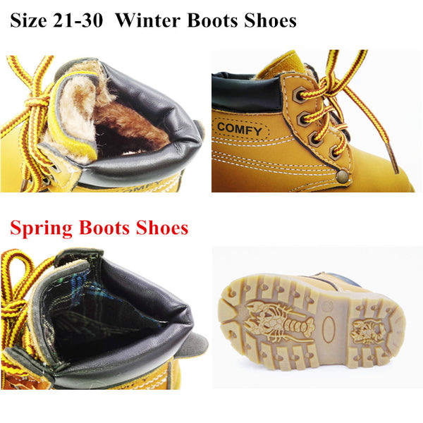 kids snow boots for girls boys fashion soft bottom baby girls boot 21-25 autumn winter