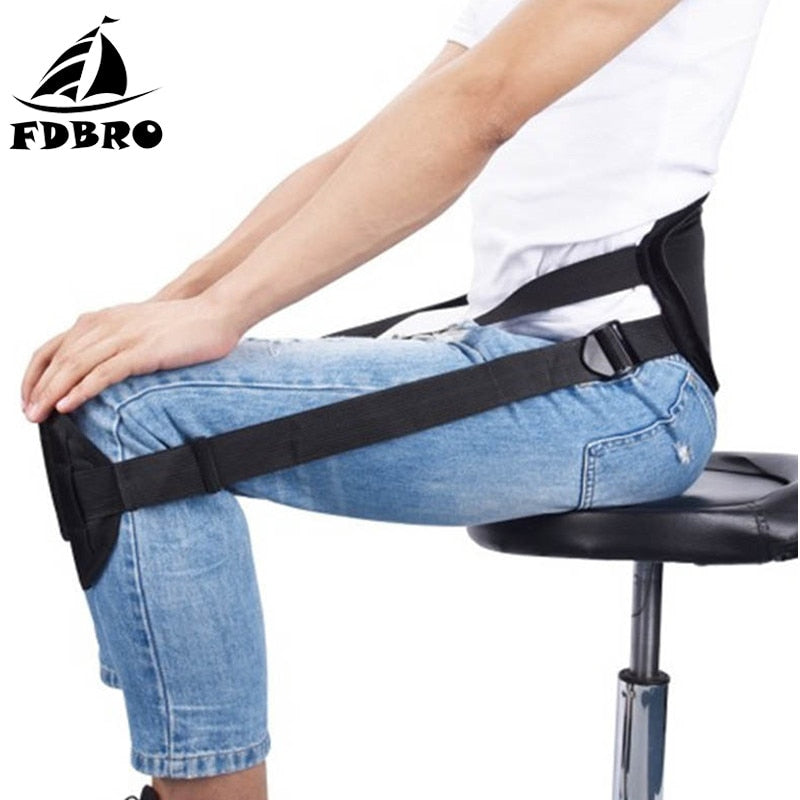 Adjustable Sitting Posture Correction Belt Brace Shoulder Lumbar Clavical Spine Back Support Belt