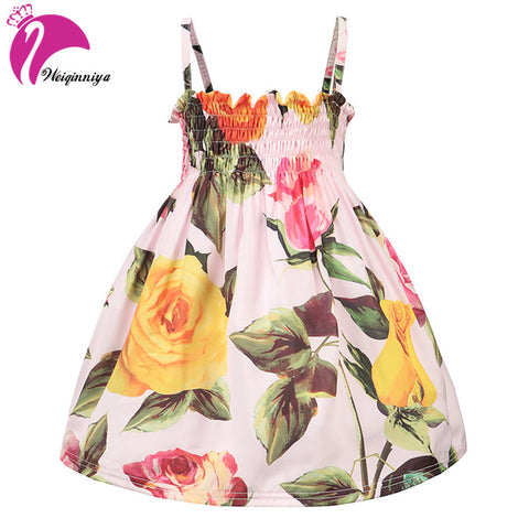 Girls Summer Dress Sleeveless Flower Sundress Party Birthday Girls Clothes Girls Dresses