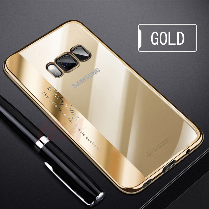 official photos 9126d 97bfd Soft TPU Fashion Electroplated Cover Case For Samsung Galaxy S9 Note 8 S8  S8 Plus Case