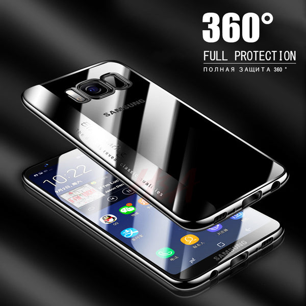 Soft TPU Fashion Electroplated Cover Case For Samsung Galaxy S9 Note 8 S8 S8 Plus Case