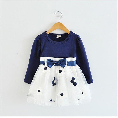 2018 Winter Cotton Flower Baby Dress Clothes 1 year Newborn Girl Clothing vestido infantil de bebes