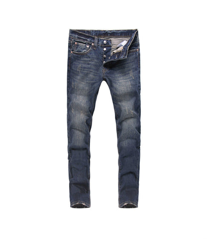 Levi's 501 Jeans Fashion Men Breathable Men's Biker Jeans Retro Trousers Fashion Men Jeans Men's Denim Trousers