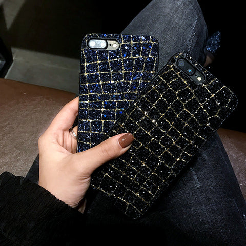 Luxury Bling Glitter Shining Sequins Phone Cases For iPhone 7 8 6 6S Plus  X 6 S 7Plus  Fashion Diamond Cover Back
