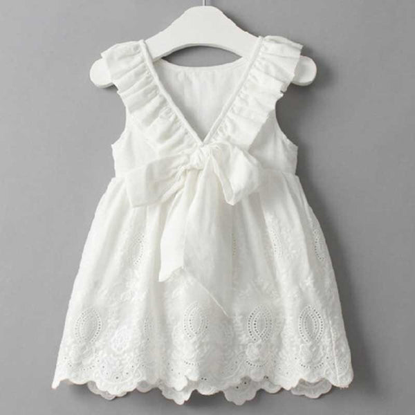 Summer Sleeveless Hollow halter Kids Princess Dress For 2-6Y Baby