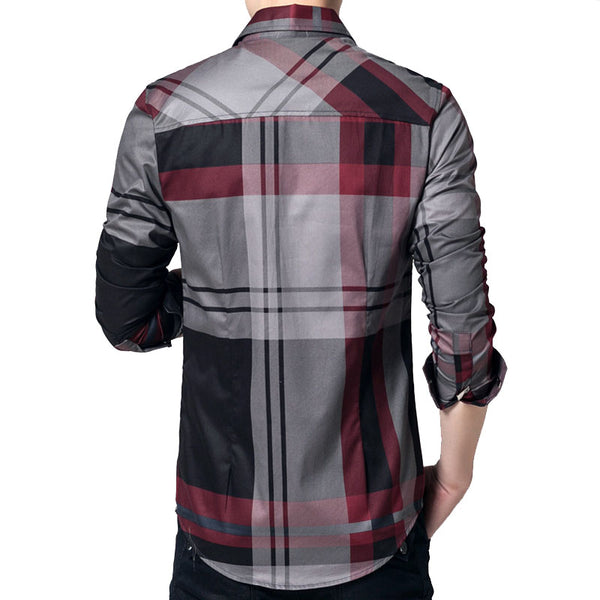 Men's Shirts 100% Cotton Long Sleeve Casual  Clothing Slim Fit