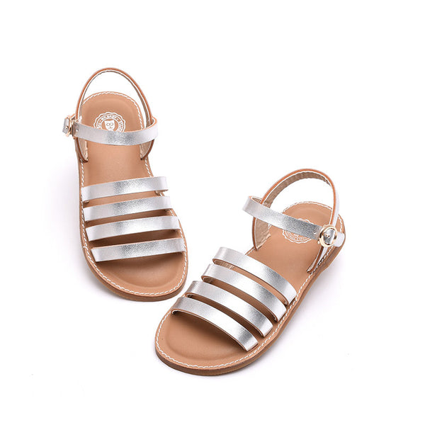 summer new  female child sandals chromophous brief child sandals