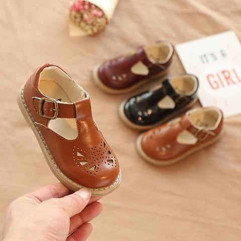 Toddler Baby Little Girls Boys Summer Hollow Leather Shoes
