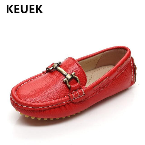 Comfortable Baby Toddler Casual Loafers Slip-On Genuine Leather Boys Girls Kids Flat Shoes