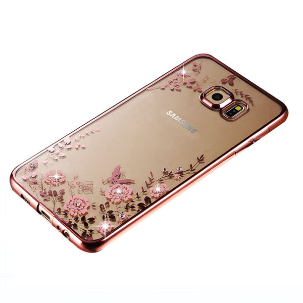 luxury original gold tpu silicone case for samsung galaxy S7 edge silicon clear soft for samsung S7edge coque cover