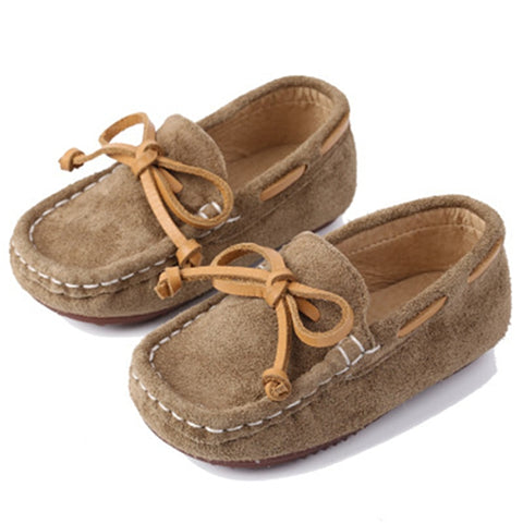 Children Genuine leather Loafers Soft Breathable Boat Boys Girls Baby shoes 1